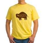 Higgs Bison Yellow T-Shirt