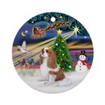 Xmas Magic-Blenheim Cavalier (F) Ornament (Round)