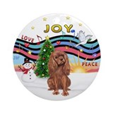 XmasMusic1-Ruby Cavalier Ornament (Round)
