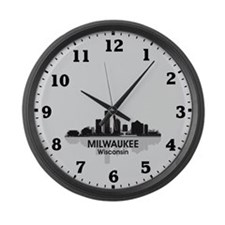 Milwaukee Skyline Large Wall Clock
