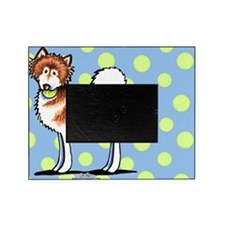 Alaskan Malamute Playtime Blue Picture Frame