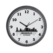 Nashville Skyline Wall Clock