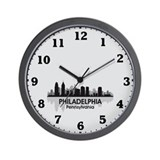 Pennsylvania Philadelphia Skyline Wall Clock