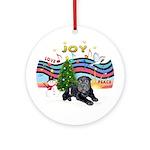 XmasMusic2 - Black Shar Pei Puppy Ornament (Round)