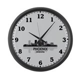 Phoenix Skyline Large Wall Clock