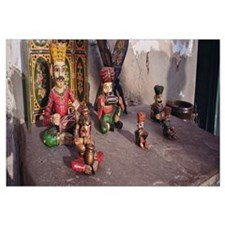 Figurines displayed at a store, Mandawa, Rajasthan