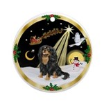 Night Flight (W) - Cavalier (BT) Ornament (Round)