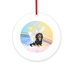 Clouds - Cavalier Angel (bt) Ornament (Round)