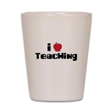 I Heart Teaching Shot Glass