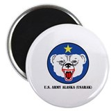 U.S. Army Alaska (USARAK) with Text Magnet