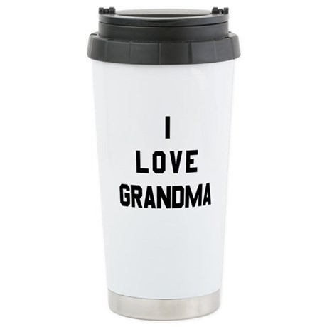 I Love Grandma Ceramic Travel Mug