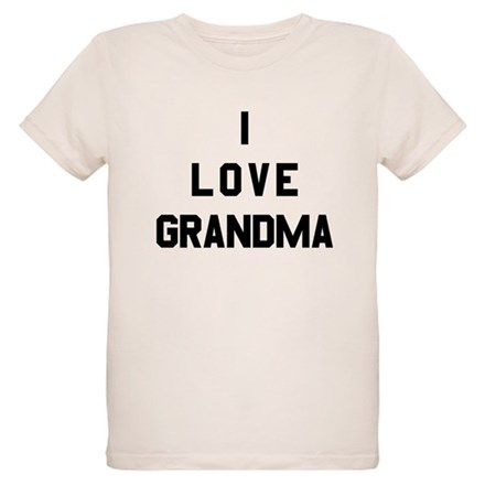 I Love Grandma Organic Kids T-Shirt