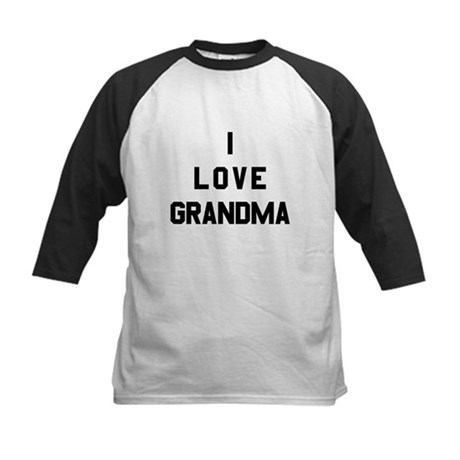 I Love Grandma Kids Baseball Jersey