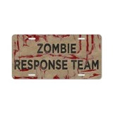 Zombie Response Team Aluminum License Plate