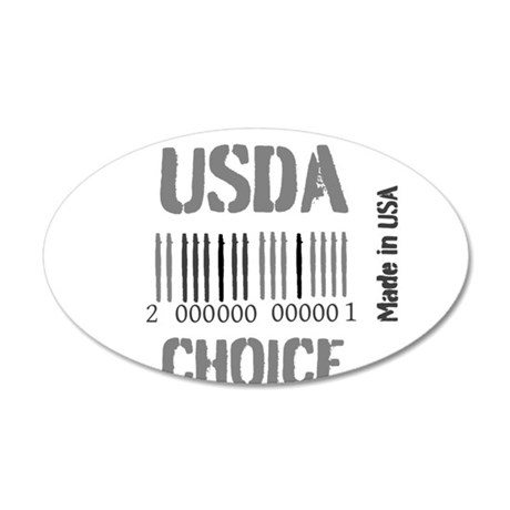 OYOOS USDA Choice Barcode design 20x12 Oval Wall D