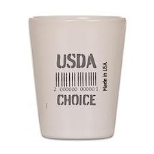 OYOOS USDA Choice Barcode design Shot Glass