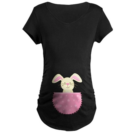Easter Baby Bunny Belly Print Pregnancy Tee