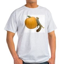 Squirrel Rolling Pumpkin T-Shirt