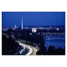 Traffic on the road, Washington Monument, Washingt