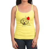 I Love My Bichon Frise Ladies Top