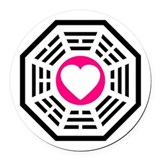 Dharma Love Round Car Magnet