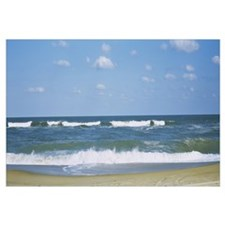 Waves in the sea, Cape Hatteras, Outer Banks, Nort