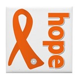 Hope Ribbon Multiple Sclerosis Tile Coaster
