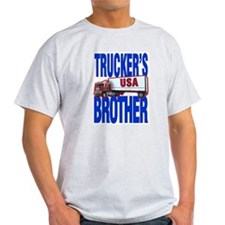 """Trucker's Brother"" Ash Grey T-Shirt"