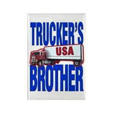 """""""Trucker's Brother"""" Rectangle Magnet"""