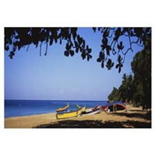 Boats on the beach, Aguadilla, Puerto Rico