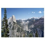 High angle view of a mountain range, Half Dome, Ne
