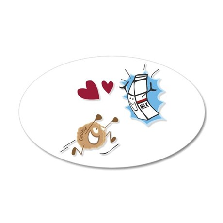 Milk and Cookies 20x12 Oval Wall Decal