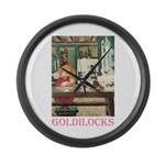 Goldilocks Large Wall Clock