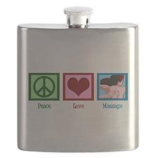 Peace Love Massage Flask