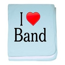 I Love Band baby blanket