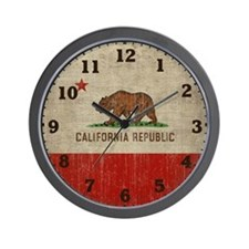 Cute Republic of california Wall Clock