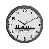 San Diego Skyline Wall Clock