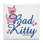 Bad Kitty Tile Coaster
