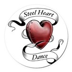 Steel Heart Dance logo Round Car Magnet