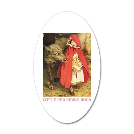Little Red Riding Hood 35x21 Oval Wall Decal
