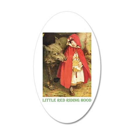 Little Red Riding Hood 20x12 Oval Wall Decal