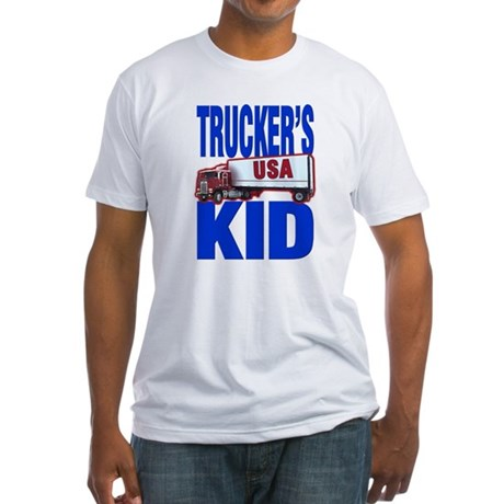 """Trucker's Kid"" Fitted T-Shirt"