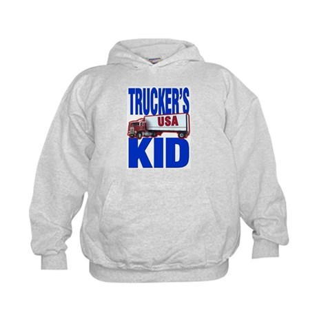 &quot;Trucker's Kid&quot; Kids Hoodie