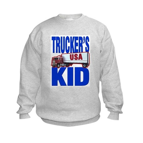 &quot;Trucker's Kid&quot; Kids Sweatshirt