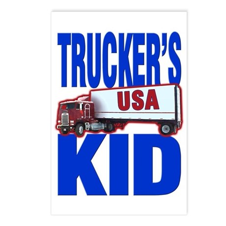 """Trucker's Kid"" Postcards (Package of 8)"