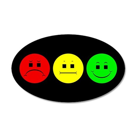 Moody Stoplight 35x21 Oval Wall Decal