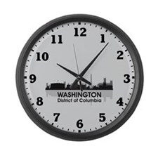 Washington Skyline Large Wall Clock