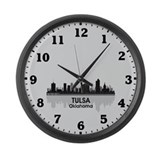 Tulsa Skyline Large Wall Clock