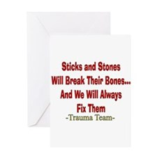 Sticks and Stones.PNG Greeting Card