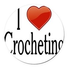 I love Crocheting Round Car Magnet